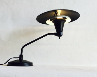 Mid Century Flying Saucer Sight Light Desk Lamp in the style of M.G. Wheeler