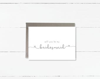 Will you be my Bridesmaid, Maid of Honour or Matron of Honour cards