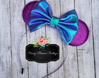 Purple and Blue Purple Iridescent Mouse Ears