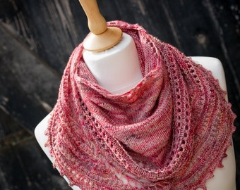 Womens Shawl, Wrap, Scarf - Luxury Merino Wool, Mulberry Silk; Hand Knit; womens gift - READY TO SHIP