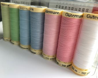Gutermann, sewing thread pack, assorted, sewing gift, all sew thread, sewing notions, sewing essentials