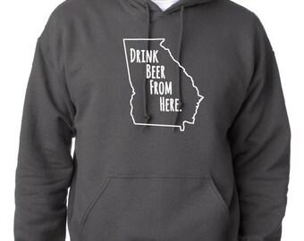 Craft Beer Hoodie- Maine- ME- Drink Beer From Here xHlmP
