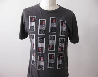 Nintendo t-shirt shirt NES classic controller style Adult XL