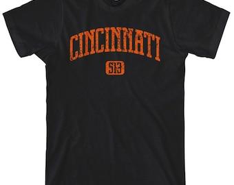 Cincinnati 513 T-shirt - Men and Unisex - XS S M L XL 2x 3x 4x - Cincy Ohio Tee - 4 Colors