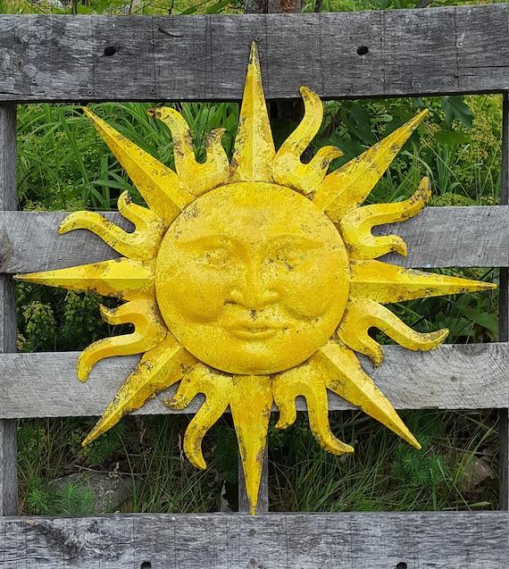 Sunface Wall Decor Garden Decor Metal Sun Wall Art Outdoor