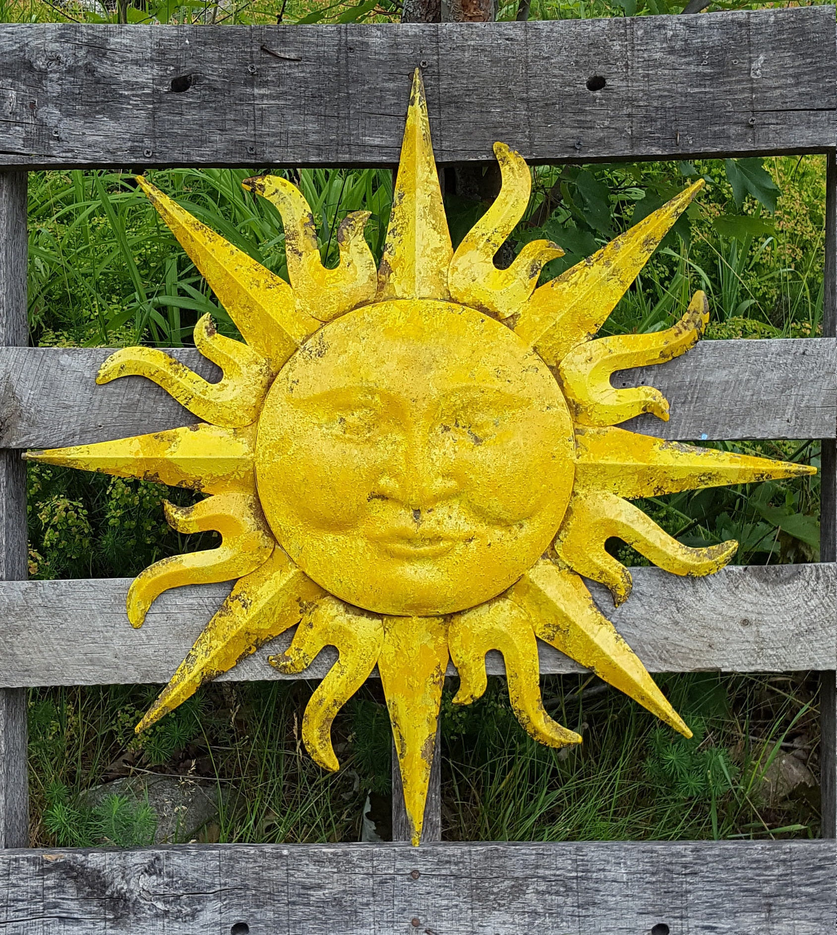 Garden Decor Metal Sun Wall Art Outdoor Wall Art Metal Sun