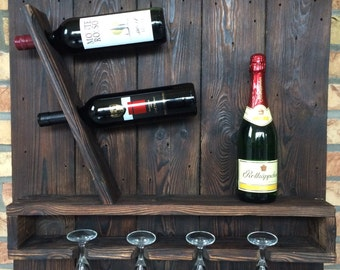 Wine rack wood
