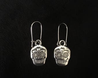 Day of the Dead Skull Dangling Earrings