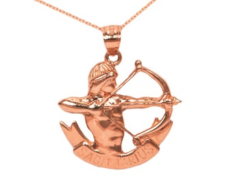 14k Rose Gold Sagittarius Necklace