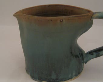 Wheel Thrown Pottery Pitcher