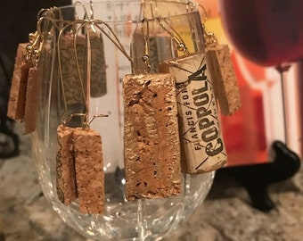 Upcycled Wine Cork Earrings