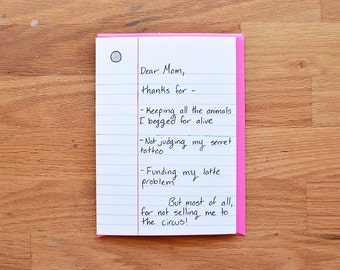Birthday card mom etsy funny mom birthday card mom from daughter funny mothers day card mothers day bookmarktalkfo Image collections