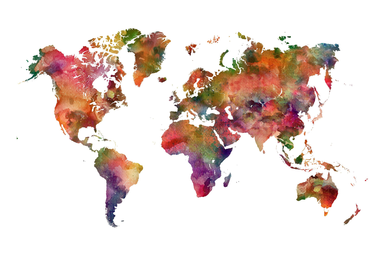Kinder Weltkarte stellen Sie Welt Karte Kunstdruck Weltkarte