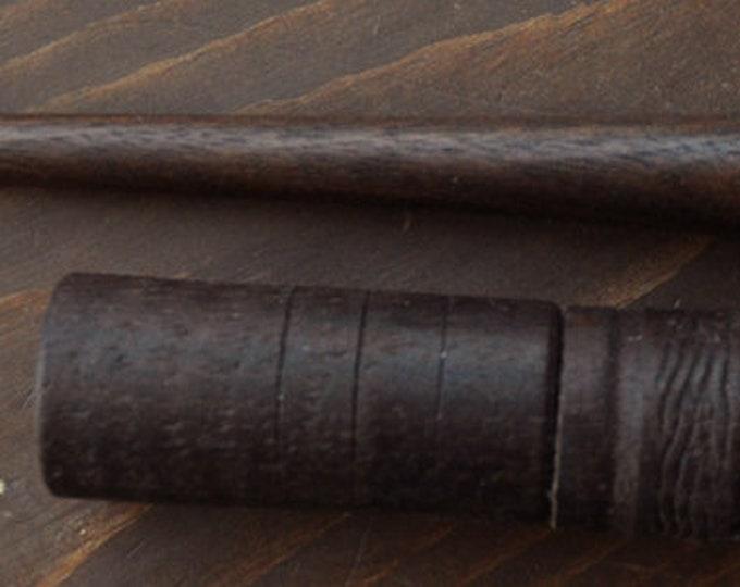 Beautiful walnut wood stitch lay helper tool plus dark walnut needle case set