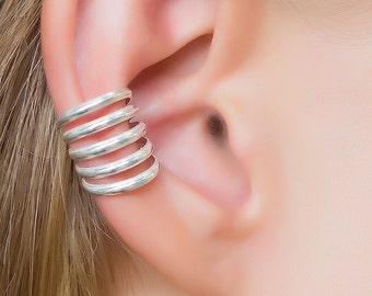 silver ear cuff. bohemian ear cuff. ear cuff clip on. ear cuff non pierced