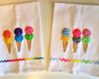 Ice Cream Cones Kitchen Towel