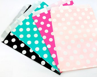 1pack (12pcs/25pcs Per Pack), 13x18cm, Polka Style Party Bags / Paper Bags / Candy Bags