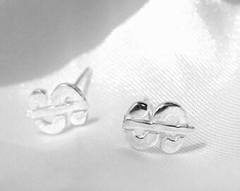 Sale 925 Sterling Silver Dollar Sign Stud Earrings Unisex Stud Earrings for Man and Women Stainless Steel