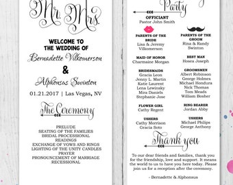 Fun program etsy diy fun wedding program template printable editable template digital instant download ceremony program thecheapjerseys Images