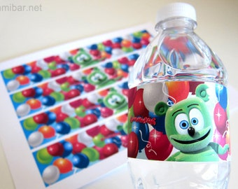 Gummibär The Gummy Bear Water Bottle Wrappers Birthday Party