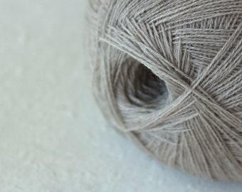 Wool merino, merino wool yarn, Cobweb light beige color wool yarn - haapsalu shawl yarn