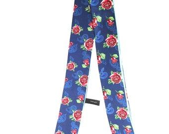 Rose Twillie, 100% silk, best worn around neck, head, wrist and bags