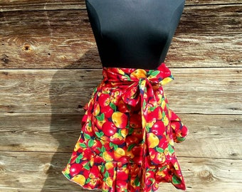 Retro Style Half Apron, Half Apron, Retro Apron, Cute Apron, Custom Apron, Woman's Apron, Apron for Mom, Cafe Apron, Kitchen Apron,