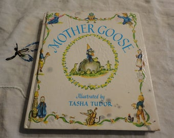 Mother Goose Children's Book Hardcover Illustrated By Tasha Tudor