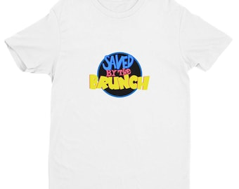 Saved By The Brunch-Saved By The Bell Inspired Vintage 90's Pop Culture Reference Short Sleeve T-shirt