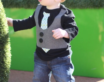 Boy's Vest and Tie Shirt