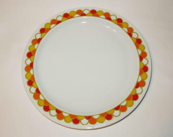 2 Dinner Plates- Georges Briard 'Carousel' / Vintage Boutique China Plates Set of Two