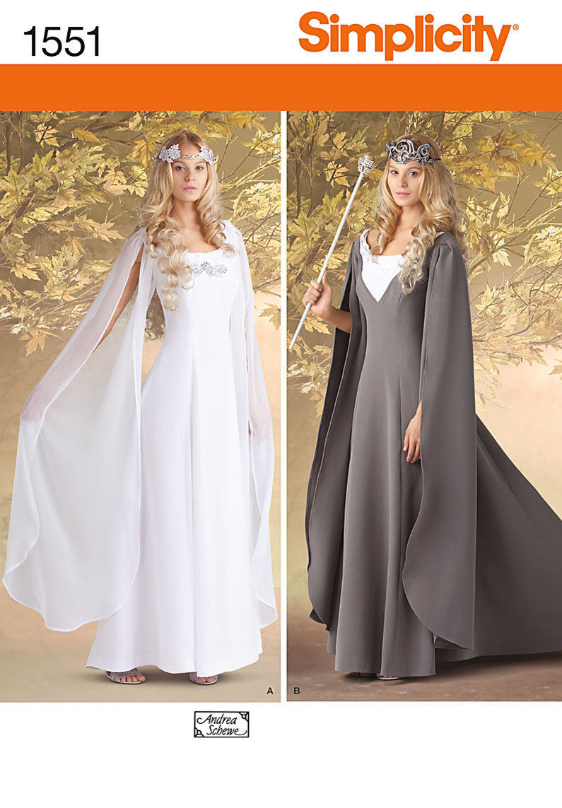 Simplicity Sewing Pattern 1551-Lord of the Rings, Maid Marian Ren ...