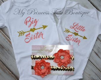 Big Sister Little Sister Shirts, Big Sister Little Sister Onesies, Big Sister Little Sister Outfits