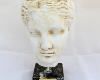 Hygeia Ancient Greek Goddess of health head statue