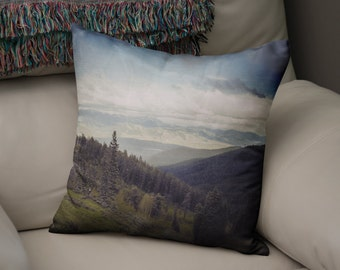 Yellowstone Throw Pillow, Rocky Mountains Couch Cushion, Rocky Mountain Throw Pillow, Landscape Decor, Nature Decor, Mountain Photo Pillow