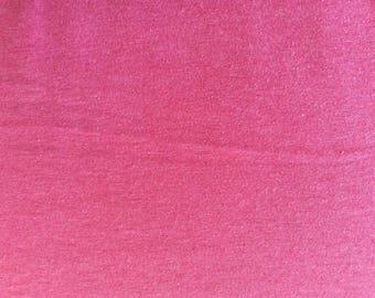 Pink cotton jersey fabric