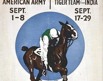 Vintage Long Island USA International Polo Matches Poster  A3 Print