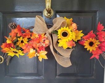 Autumn Wreath Swag