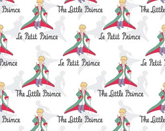 SALE The Little Prince Title White - Riley Blake Designs - Boy - Quilting Cotton Fabric - choose your cut
