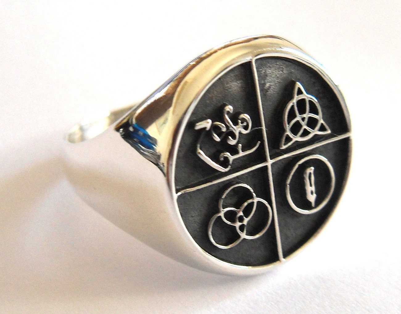 Led zeppelin band four symbol silver 925 ring description led zeppelin band four symbol biocorpaavc