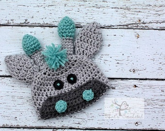 Newborn Giraffe hat, Newborn photography prop, newborn boy, newborn girl,crochet hat, giraffe hat