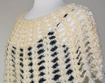 Cream crochet capelet - Made to order