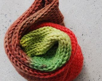 Hand dyed superwash merino/nylon sock blank