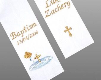 BAPTISM STOLE/SASH - Embroidered
