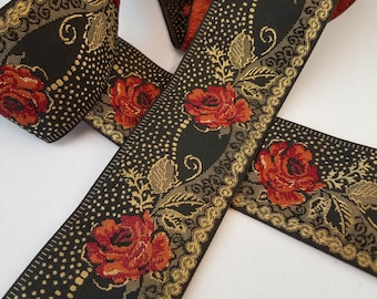 Red Rose 1  3/4 inch wide sold by the yard
