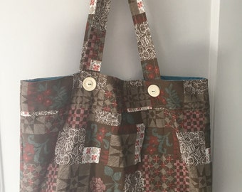 Handmade Vintage Patterned Tote Bag