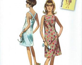 UNCUT Simplicity 1101 Jiffy Dress Sewing Pattern Retro Size 6-8-10-12-14-16-18-20-22