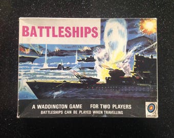 Vintage travel battleships game paper addition 1960s