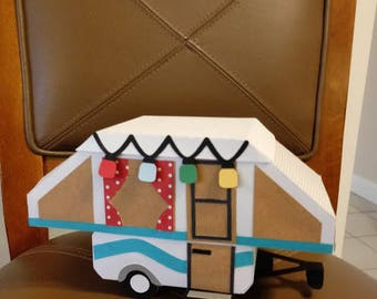 Pop Up Camper Box (not a pattern), Candy, Jewelry, Keepsakes, Trinkets, Cash