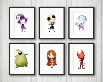 Nightmare Before Christmas Print - Halloween Decor - Nightmare Before Christmas Wall Art - Halloween Wall Art - Halloween Poster